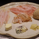 72161589 - 生ハム・サラミ・チーズ