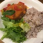 カフェ ソラーレ - 夏野菜のトマトおろしハンバーグ 880円(税込)