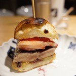 焼鳥 今井 - フォアグラハンバーガー