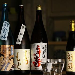 五臓六腑に沁みわたる季節の美酒がよりどりみどり。