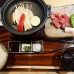 すき焼き 牛しゃぶ 松重 - ステーキ膳