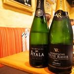 シャンパン食堂 - 本日呑んだシャンパンは2本
