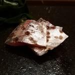 甚六鮨 - 鯵の炙り