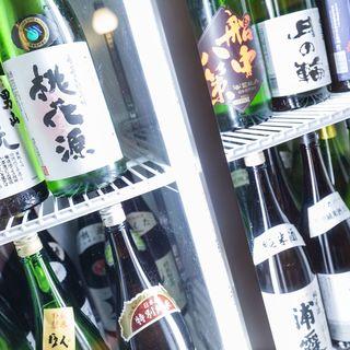 豊富なドリンク約60種類以上☆日本酒飲み放題1時間980円!