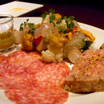トラットリア・コルテーゼ - シェフのおすすめ前菜盛り合わせ
