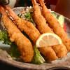 一条 - 料理写真:プリップリの海老フライ4匹(*^_^*)  驚いた!タルタルも美味しい❤️