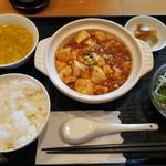 72171936 - 日替わり この日は麻婆豆腐 これにコーヒーとデザート付き980円