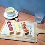 町なかファームカフェ - 「3種のオープンサンドセット」650円