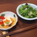 和創作 RAFUE 楽風絵 - ランチのサラダと日替わり小鉢
