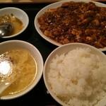 喬家柵小吃 - 麻婆豆腐定食の前景。
