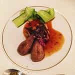 お箸で食べる和フレンチ 波波 - 穴子と茄子の蒲焼き