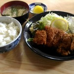 お食事処 たかぎ - 料理写真:チキンカツ定食五百円。
