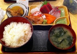 酒処 つがる - 刺身定食(998円)