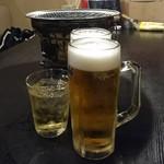 島田屋 - ビールと梅酒で乾杯!