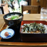 なにわや - 料理写真:穴子弁当全景(2017.8.28)