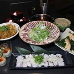 武蔵 - 山口の地酒「貴」で作った出汁で食べる合鴨ネギしゃぶしゃぶコース 2500円