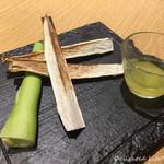 越後酒房 八海山 - マコモタケの焼き物(734円税込)