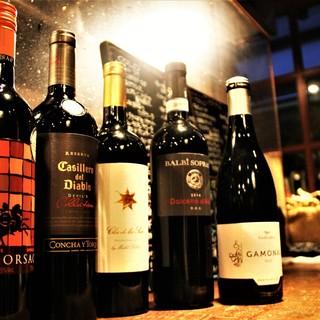 ~種類豊富なワインの数々~