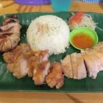 ちりばり - マレーシア鶏飯2種セット800円+海南チキン単品300円