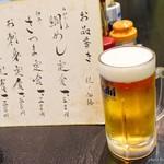 とみや - 2017年7月 生ビール中【500円】