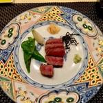 ahill - サーロインステーキ完成!お皿も綺麗(о´∀`о)