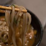つけ麺 五ノ神製作所 - よく絡む全粒粉な麺