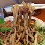 ぽっぽっ屋 - 冷製肉みそ和え麺・ニンニク辛味噌(800円)