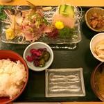 魚料理 うおたつ - アジのたたき定食