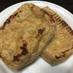 長谷川豆腐店 - 油揚げフライパンで焼いてみた