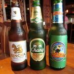 クンテープ - お姉様方のビール飲み比べ