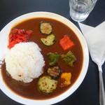 赤煉瓦カフェ ジャズ - 海軍夏野菜カレー  ¥900-