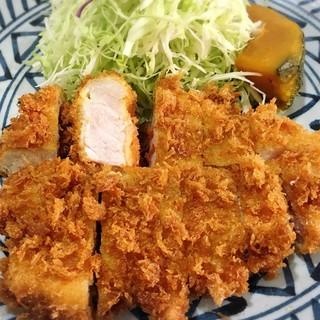 キッチン美味小家 - 料理写真:厚切りロースかつ定食 ¥1,728  敢えて銘柄豚ではないレギュラーメニューから選んでみました。美味しいです!