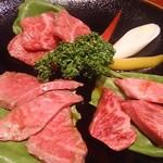バリバリ - 仙台牛三種盛り3760円
