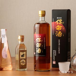 お店オリジナルのお酒を始め、広島県の日本酒を数多く用意