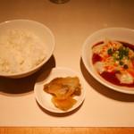 72213917 - 2017/4/15  ご飯とザーサイ、一品
