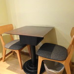 カフェ アロマ - テーブル下の出っ張り、これがかなりのクセモノ