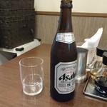 らぁ麺 はせ川 - ビールはスーパードライ中瓶
