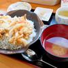 安芸しらす食堂 - 料理写真:釜あげちりめん丼プラスかき揚セット