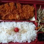 かつ心 - *ロースかつ・ご飯・副菜数品。