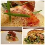レストラン スーリール - *オマールが甘いこと。シンプルに仕上げることでより旨みが引き立っています。 オマールの殻や味噌を合わせたソースもいい味わい。 パイ生地と共に頂くと、より美味しいですね。