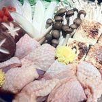 名古屋コーチンと個室居酒屋 天錦  梅田本店 - 名古屋コーチンのすき焼き(コース料理のさつきコース)