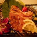 名古屋コーチンと個室居酒屋 天錦  梅田本店 - 鶏胸肉のたたき(コース料理のさつきコース)