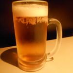名古屋コーチンと個室居酒屋 天錦  - 生ビール