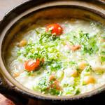 バカリャウとヒヨコ豆の雑炊