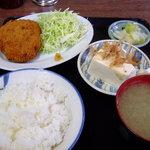 山田ホームレストラン - 定食 ビーフコロッケ\680