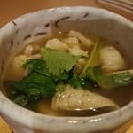 肉寿司 イタリアンバル 閂 - 鱧と松茸のさっと煮