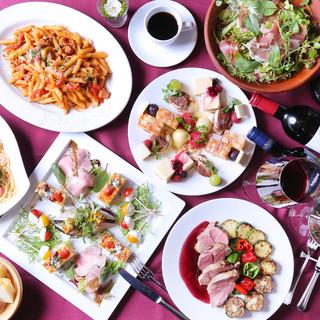 南イタリアの郷土料理などが楽しめるコース