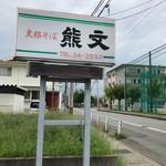 熊文 - 通りにある看板です。
