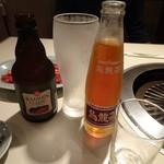 食道園 - ビール・ウーロン茶