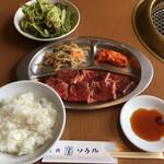焼肉レストラン ソウル - 焼肉定食(サラダ,キムチ,ご飯,スープ,アイスクリーム付) 970円 (2017/08)